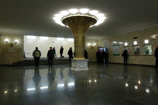 Открытие вестибюля станции метро Сокол после реконструкции