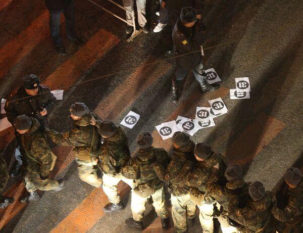 Митинг оппозиции в Москве на Триумфальной площади