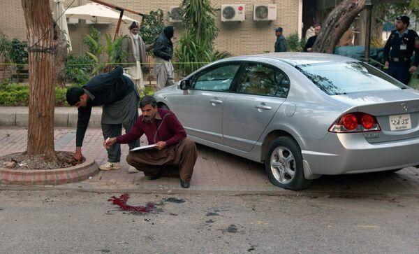 Место убийства губернатора Пенджаба Салмана Тасира