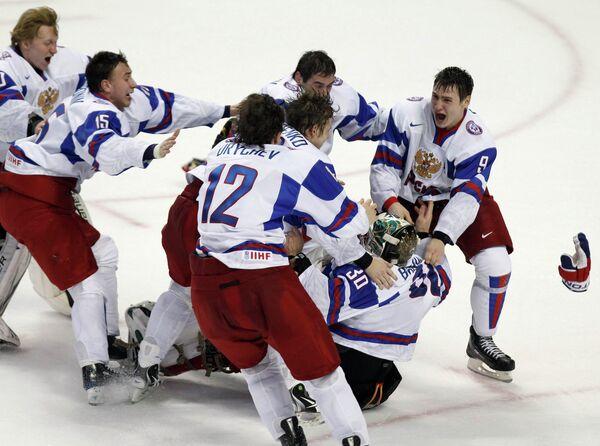 Российская молодежная сборная по хоккею стала Чемпионом мира