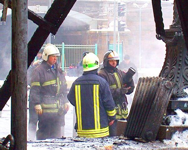 Пожарные быстро потушили возгорание в здании Белорусского вокзала