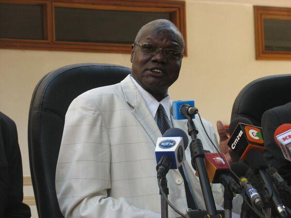 Председатель бюро по проведению референдума на юге Судана Чан Рик Мадут. Архив