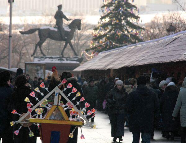 Зимняя ярмарка в Москве. Архив