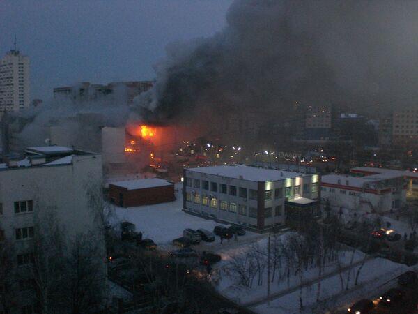 Пожар произошел в субботу в торгово-развлекательном центре Европа в Уфе.