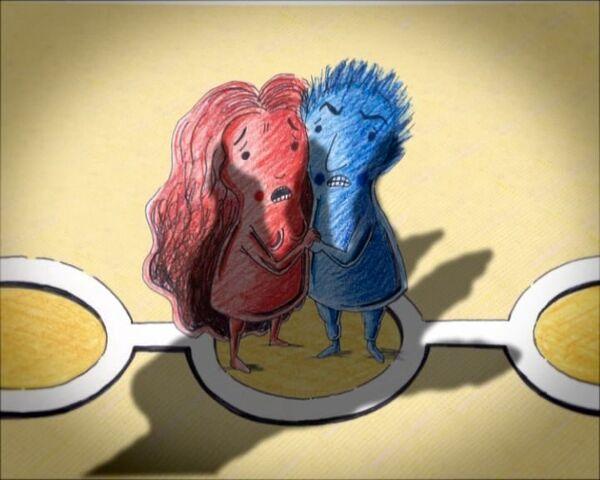 Кадр из анимационного фильма Игра, показанного в рамках программы Новая чешская анимация