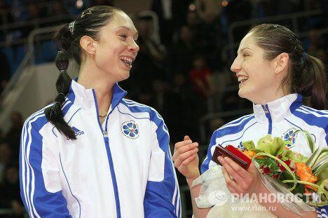 Екатерина Гамова и Татьяна Кошелева (слева направо)