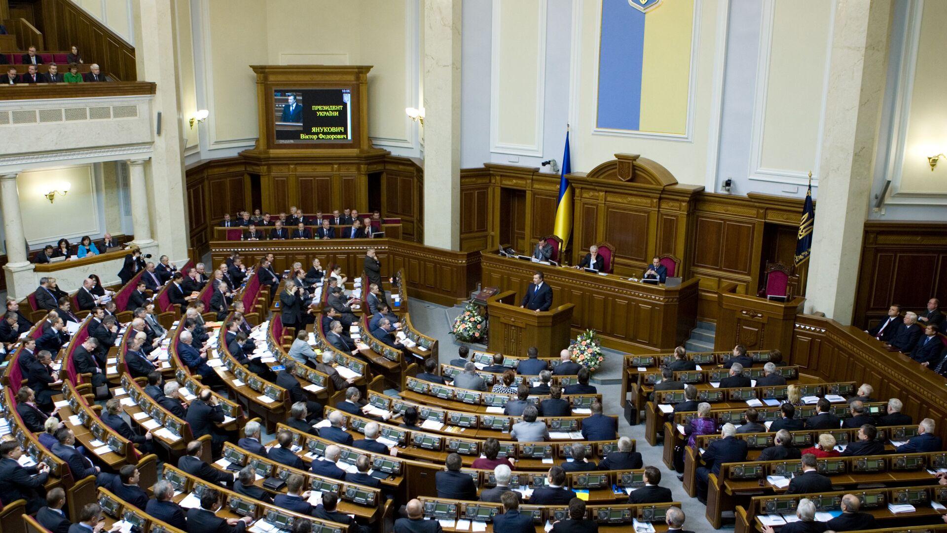 Президент Виктор Янукович выступил на открытии сессии Верховной Рады - РИА Новости, 1920, 29.03.2021