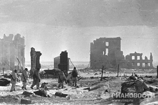 Центр Сталинграда после освобождения