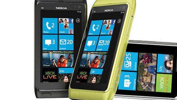 Телефон Nokia на системе windows phone. Архив