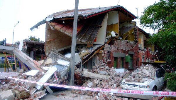 Последствия землетрясения в городе Крайстчёрч в Новой Зеландии