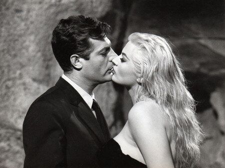 Анита Экберг и Марчелло Мастрояни, «Сладкая жизнь», 1960 г.