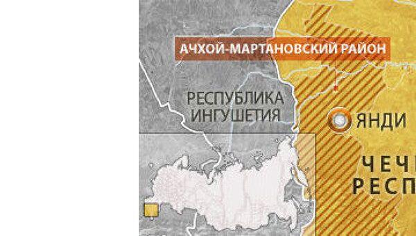 Ачхой-Мартановский районе. Карта