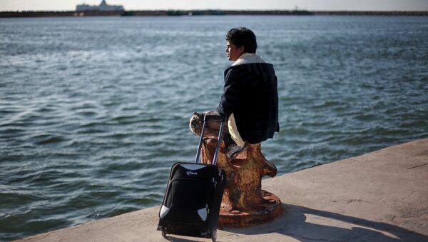 Иностранные беженцы в порту Бенгази. Архив