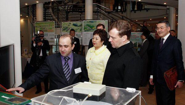 Президент РФ Д.Медведев посетил комплекс Город шахмат