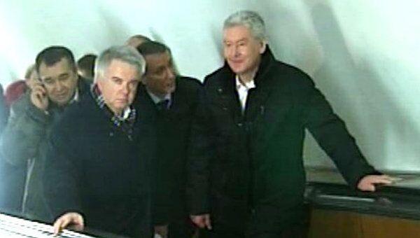 Собянин проехал по Калужско-Рижской линии московского метро