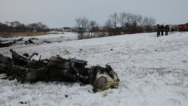 На месте катастрофы Ан-148