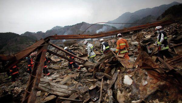 Последствия землетрясение в префектуре Иватэ в Японии, 15 марта 2011
