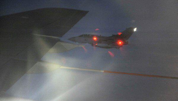 Британский истребитель Tornado во время военной операции в Ливии