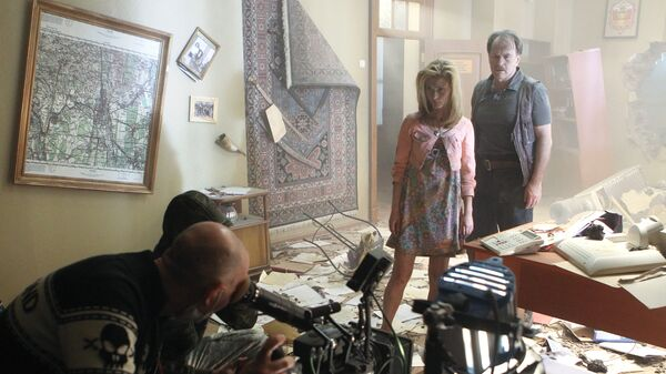 Съемки фильма Джаника Файзиева Август. Восьмого