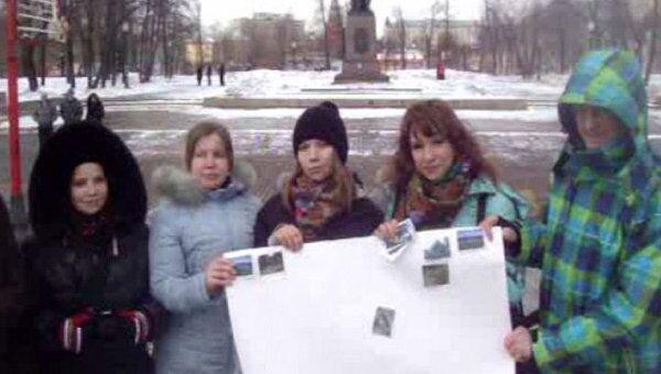 Акция Час Земли в московском районе Якиманка