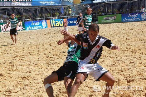 Игровой момент матча Васко де Гама - Спортинг