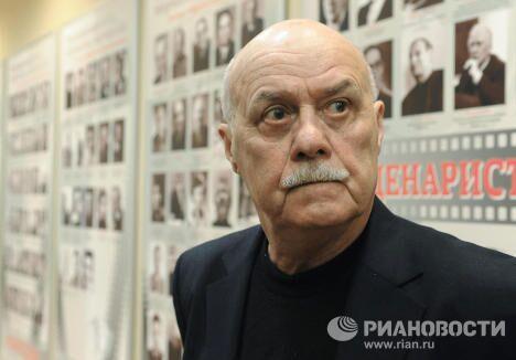 Режиссер Станислав Говорухин на пресс-конференции