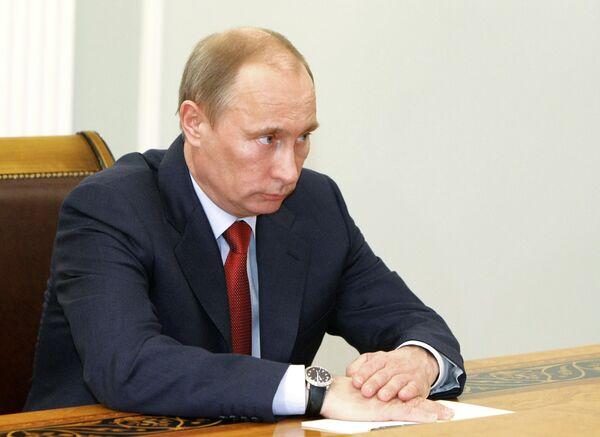 ремьер-министр РФ Владимир Путин. Архив