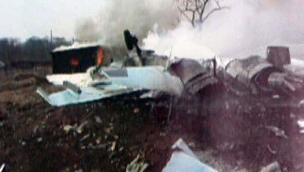 Разбившийся под Владивостоком Су-27 разлетелся на куски и загорелся
