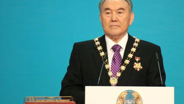 Церемония инаугурации президента Казахстана Нурсултана Назарбаева