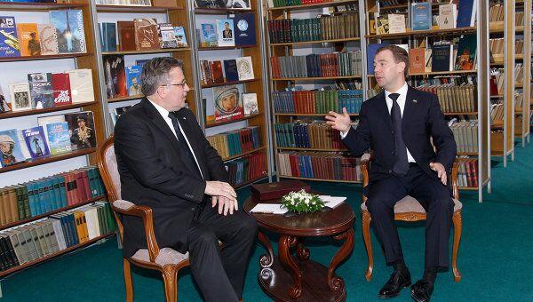 Встреча Дмитрия Медведева и Бронислава Коморовского