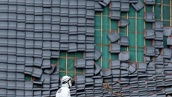 Последствия землетрясения в японской префектуре Фукусима