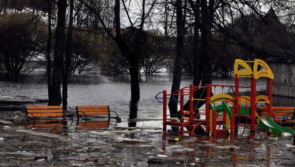Паводок в Пскове