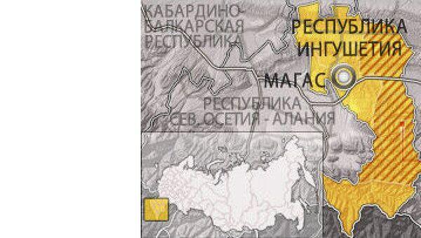 Сунженский район Ингушетии. Карта