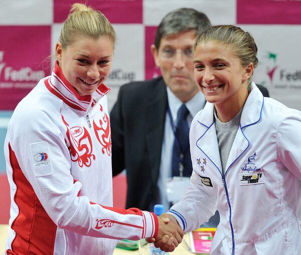 Вера Звонарева и Сара Эрани (слева направо)