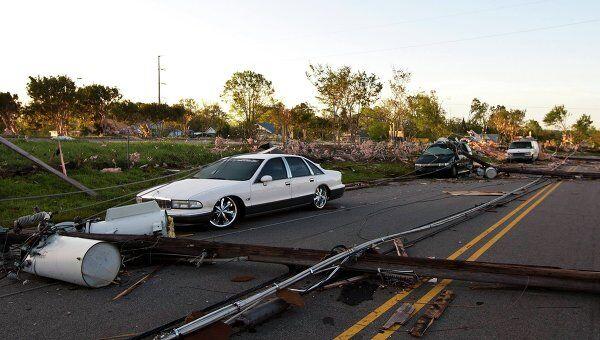 Последствия торнадо в США