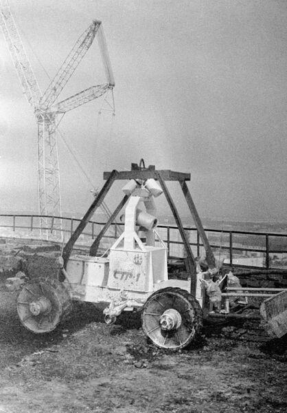 Робот работает на месте чернобыльской катастрофы