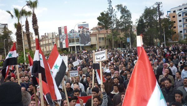 Демонстрация протеста в Сирии 27 апреля 2011 года
