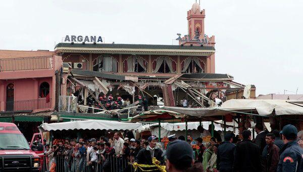 Взрыв в центре Марракеша в Марокко