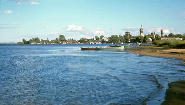 Вид на город Осташков