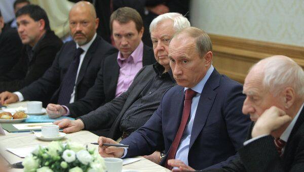 Премьер-министр РФ В.Путин провел встречу с деятелями театра и кино