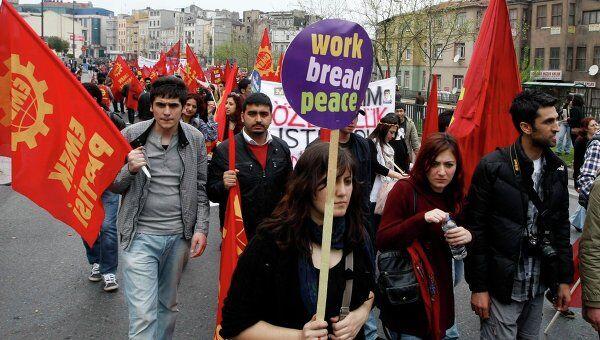 Первомайская демонстрация в Турции