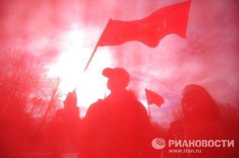 Первомайския демонстрация в Великом Новгороде