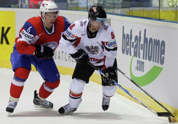 Игровой момент матча Австрия - Норвегия