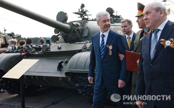 С.Собянин принимает участие в торжественной церемонии закладки памятной капсулы в основание нового здания музея История танка Т-34