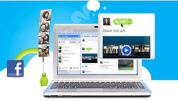 Facebook запустит в среду функцию видеозвонков на базе Skype - СМИ