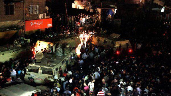 Неизвестные подожгли церковь в районе Имбаба в Гизе близ египетской столицы Каир
