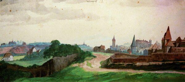Вид Нюрнберга с запада А. Дюрера