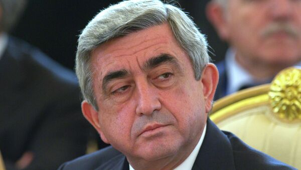 Президент Армении Серж Саргсян. Архив