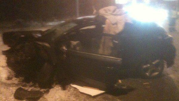 Opel Astra студентки Алены Ярош, пострадавшей в ДТП с участием автомобиля полпреда президента РФ  Гарри Минха.