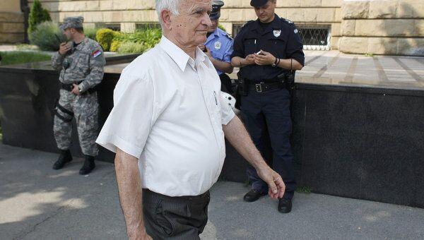 Адвокат семьи Ратко Младича Милош Салич в Белграде. Архив